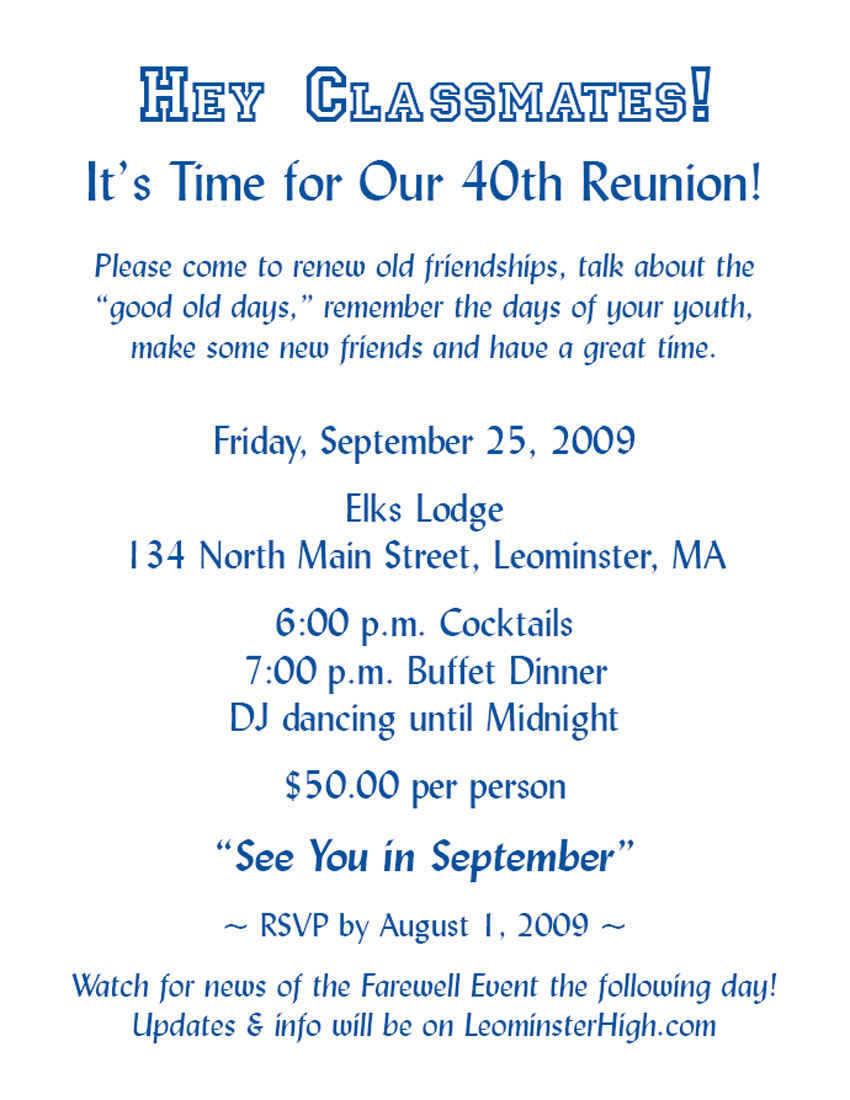 Class reunion invitations templates sonundrobin class reunion invitations templates stopboris Images